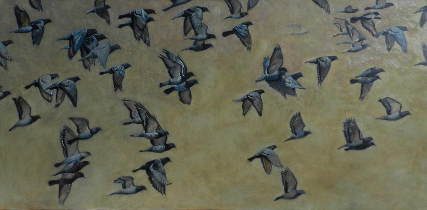 Chemarea păsărilor | Ulei pe pânză | 120x60 cm | 2014 | 1000 Euro