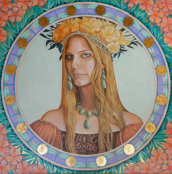 Florile fanteziei | Acrilic și ulei pe pânză | 80x80 cm | 2013 | 3200 Euro