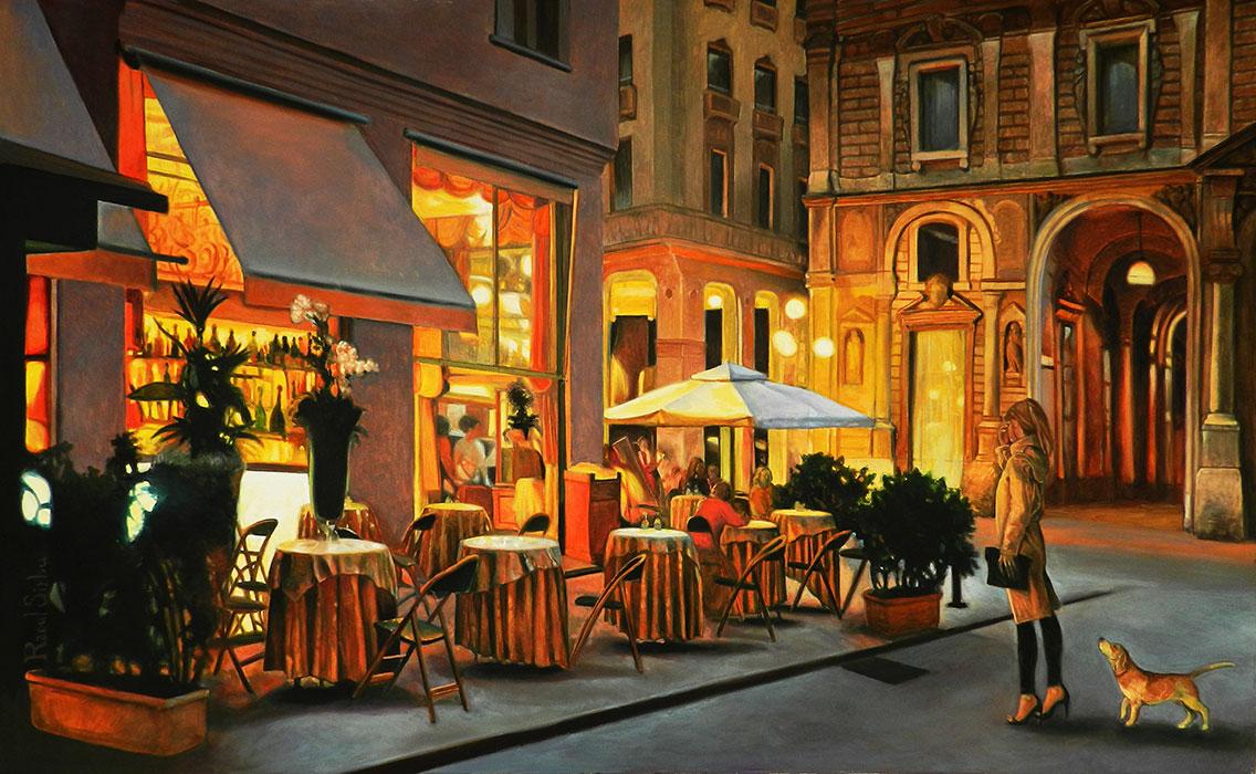 Luminile orașului | Ulei pe pânză | 50 x 80 cm | 2015 | 1500 EURO