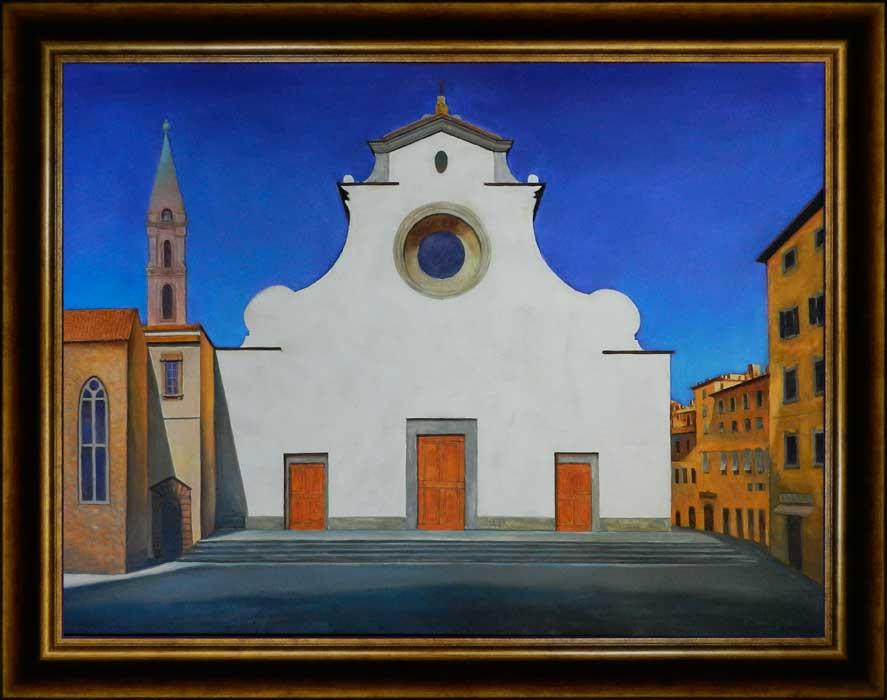 Santo Spirito Firenze | Ulei pe pânză | 60x80 cm | 2014 | 900 Euro