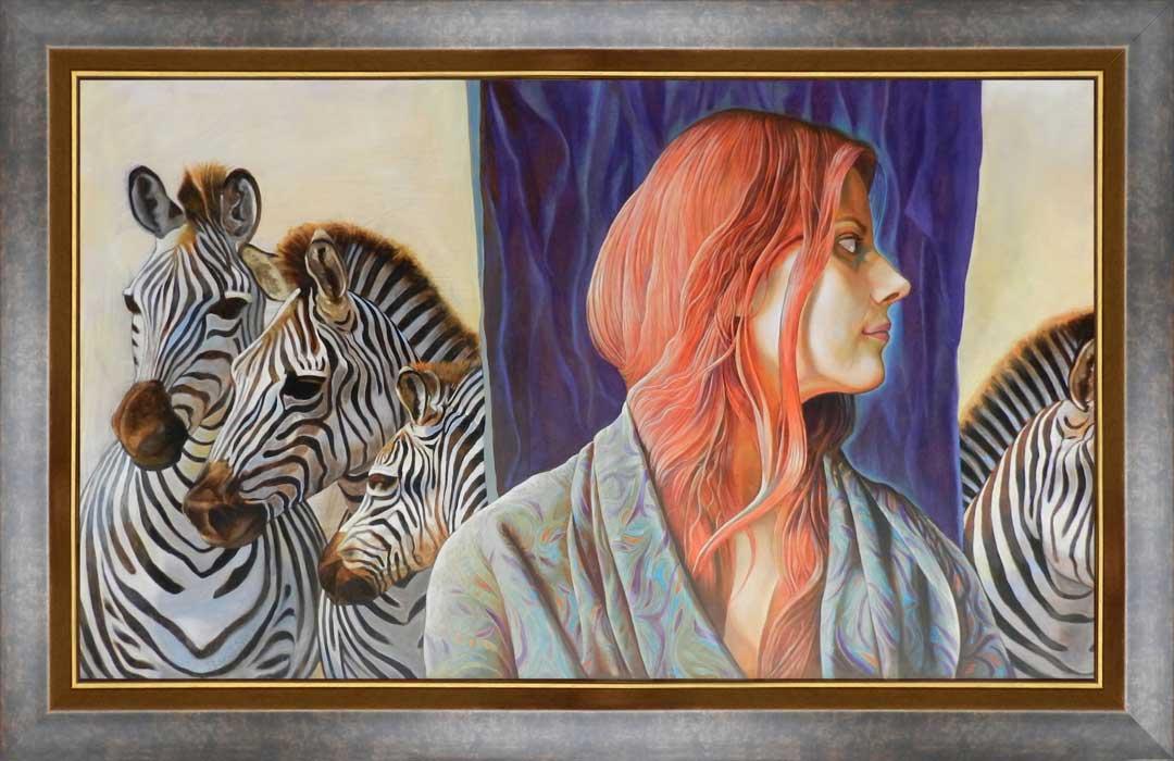 Visul fetei cu păr roșu | Ulei pe pânză | 60 x 100 cm | 2014 | 1500 EURO