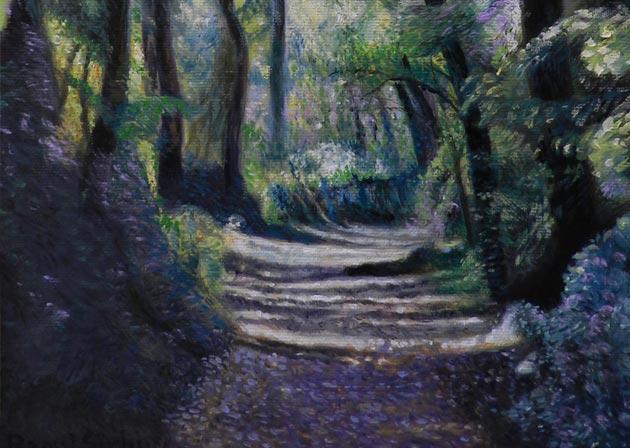 Drum prin pădure