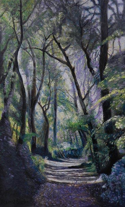 Drum prin pădure | Ulei pe pânză | 25 x 40 cm | 2015 | 250 EURO