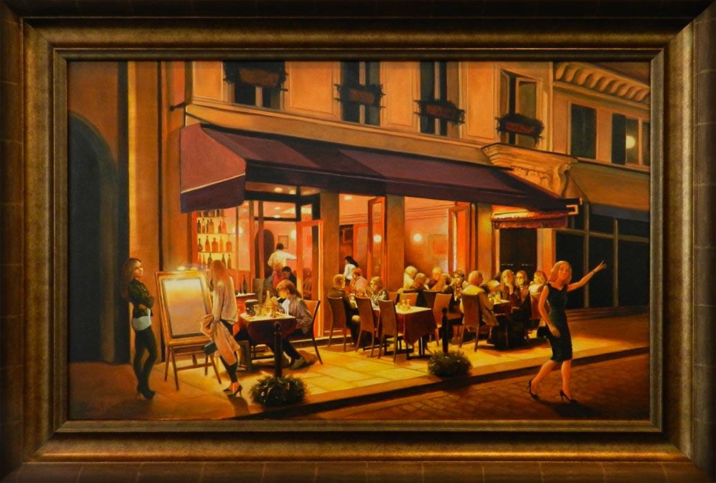 Noaptea, la Paris | Ulei pe pânză | 50 x 80 cm | 2015 | 1200 EURO