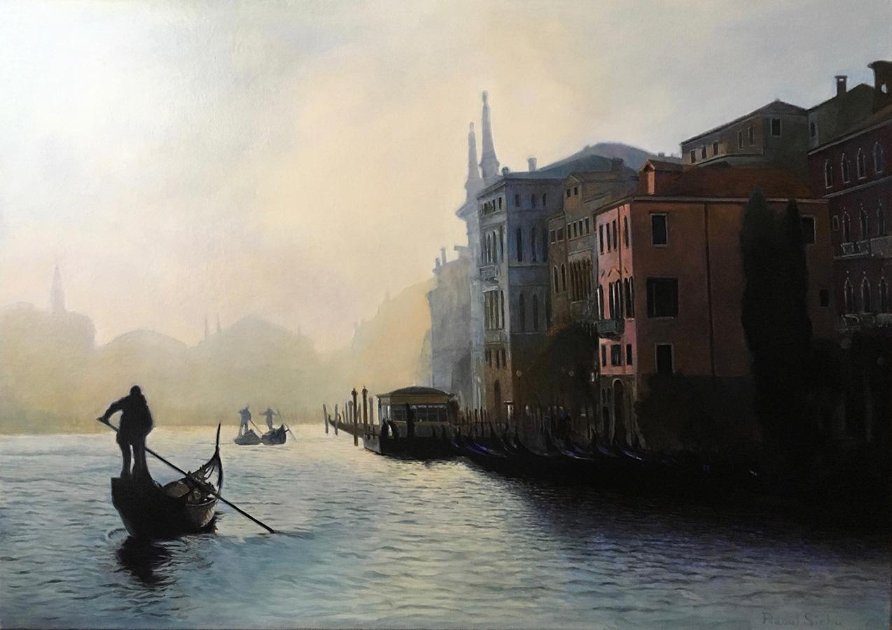 Amurg la Veneția | Ulei pe pânză | 50 x 70 cm | 2016 | 1200 EURO