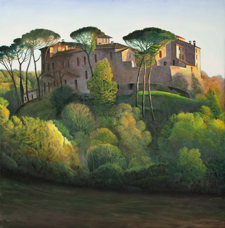 Castel în Toscana | Ulei pe pânză | 80x80 cm | 2017 | 1000 Euro