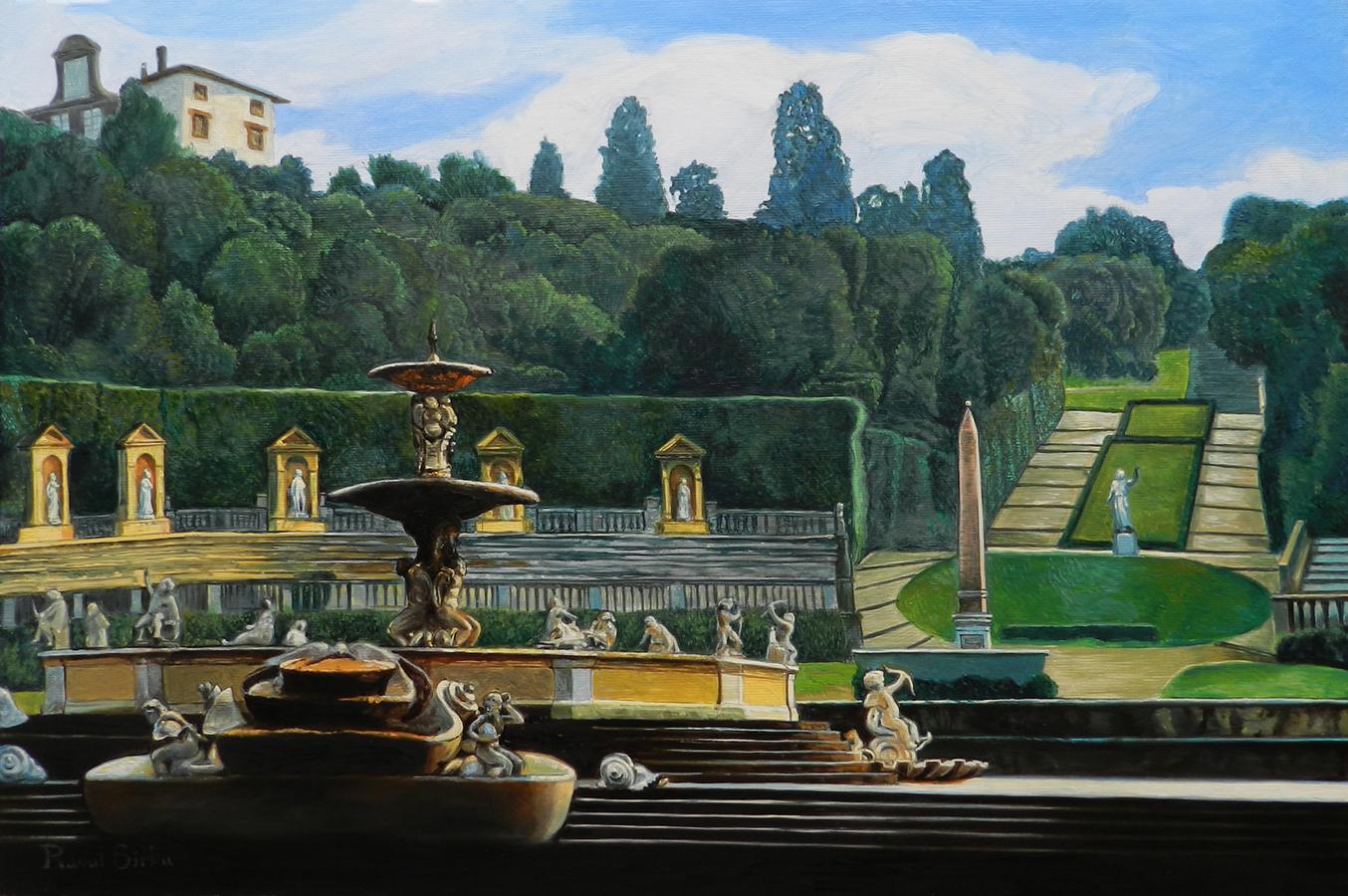 Florența, Grădinile Boboli | ulei pe pânză| 40x60 cm | 2015 | 700 Euro