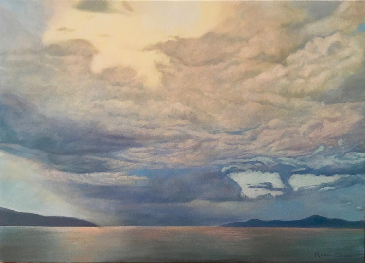 Nori deasupra mării | ulei pe pânză | 50x70 cm | 2018 | 300 Euro
