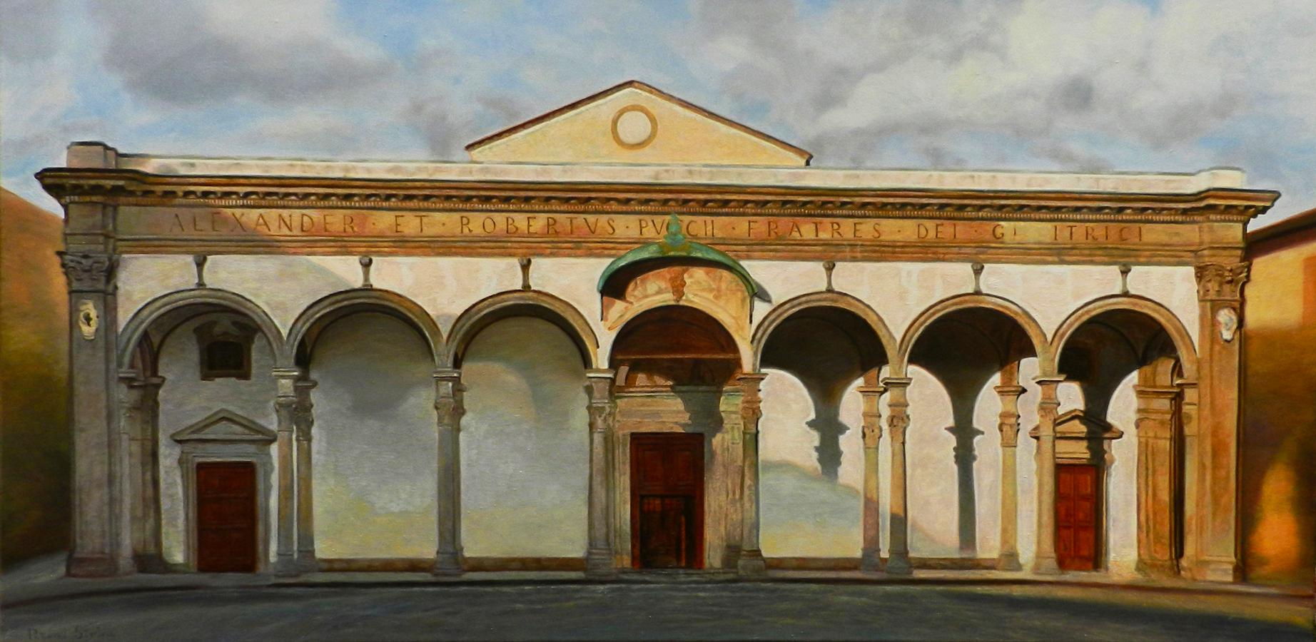 Santissima Annunziata, Firenze | Ulei pe pânză | 50 x 100 cm | 2019 | 700 Euro