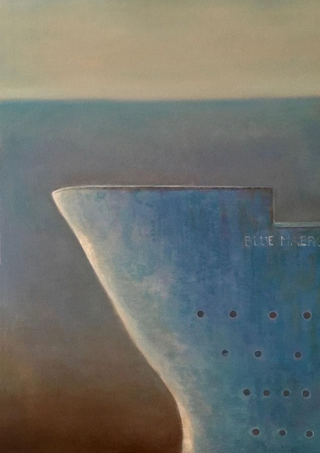 Blue Maersk | ulei pe pânză | 70x50 cm | 2019 | 400 Euro