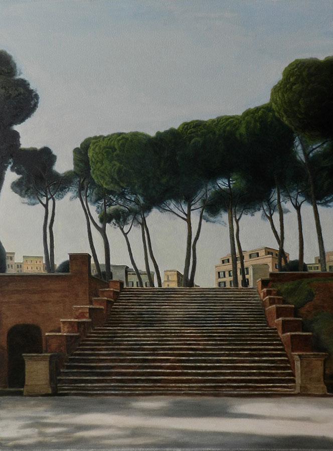 Peisaj din Roma | Ulei pe pânză | 80 x 60 cm | 2019 | 600 Euro