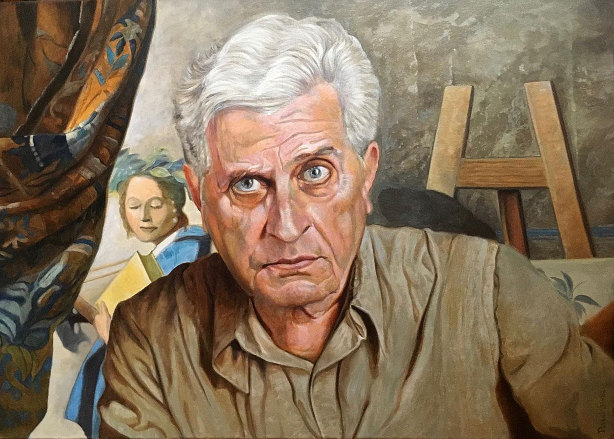 Portretul scriitorului Tudor Octavian | Ulei pe pânză | 50x70 cm | 2019