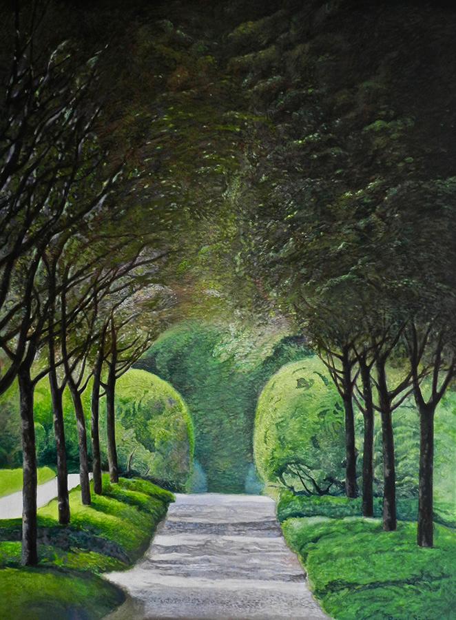 Alee în parc | Ulei pe pânză | 80 x 60 cm | 2019 | 500 Euro