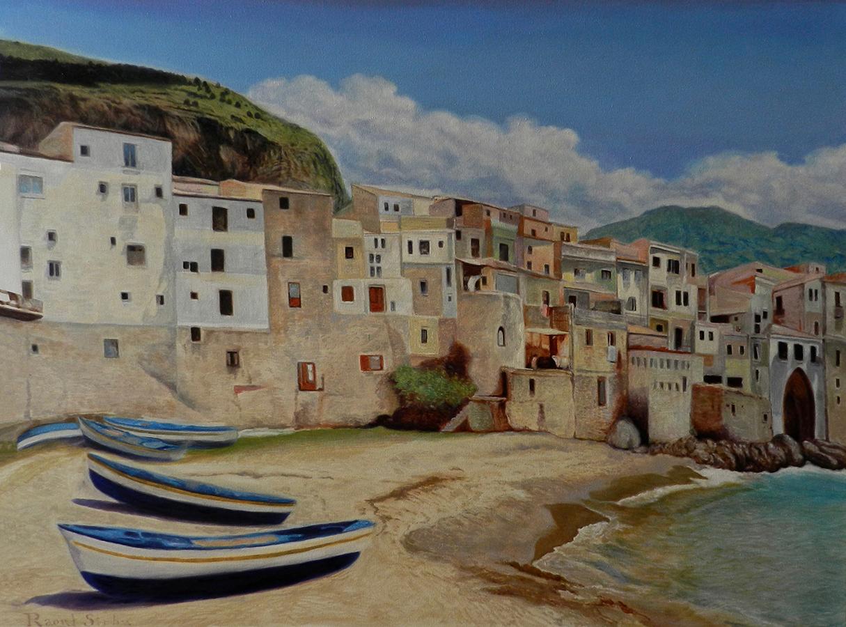 Cefalu, Sicilia | Ulei pe pânză | 80 x 60 cm | 2019 | 600 Euro