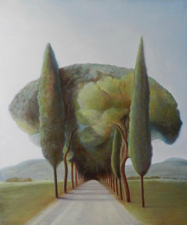 Drum în Italia | Ulei pe pânză | 120 x 100 cm | 2019 | 1000 Euro