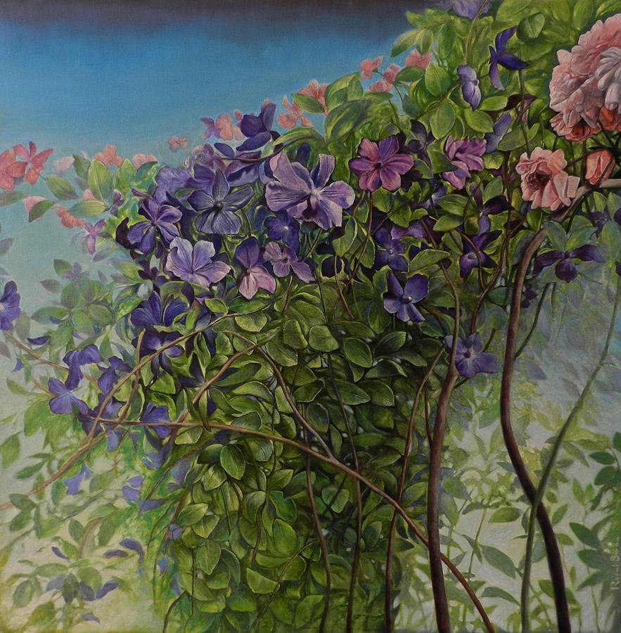 Flori | Ulei pe pânză | 80 x 80 cm | 2019 | 2250 EURO